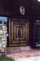 COPPER FRONT DOORS ENTRY DOOR EMBOSSED COPPER DESIGN