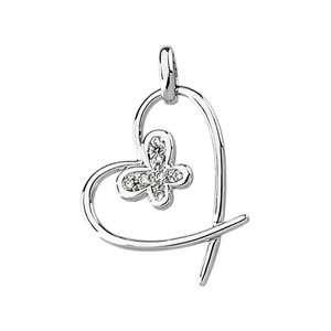 Genuine IceCarats Designer Jewelry Gift 14K White Gold Diamond