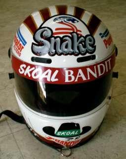 NHRA DON Snake PRUDHOMME Helmet RACE WORN SIGNED Final Strike RARE