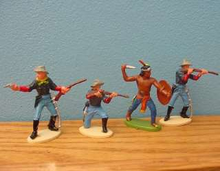 original 1960s Britains Herald 7th Cavalry & Indian   fort apache