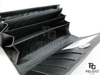 PELGIO New Genuine Python Belly Skin Leather Women Clutch Wallet