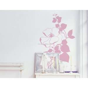 DIY Home Décor Flower PVC Wall Decal Stickers 31.4*19.6cm