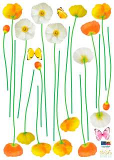 SPRING FLOWERS DIY Adhesive Removable Wall Decor Accents Sticker Decal