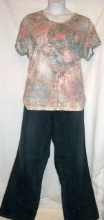 OUTFIT CASUAL SHORT SLEEVE TOP 22/24 & LANE BRYANT JEANS 22t