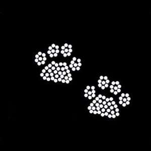 Dog Paw Prints Iron On Rhinestone Crystal Transfer Arts