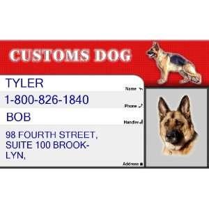 CUSTOMS ID Badge   1 Dogs Custom ID Badge   Design#2