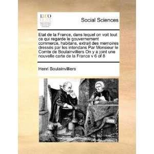 carte de la France v 6 of 8 (French Edition) (9781171415190): Henri