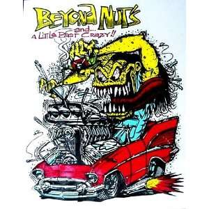 Rat Fink 57 CHEVY  Beyond nuts  Hot Rod Decal
