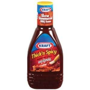Kraft Thickn Spicy Squeeze Bottle Original Barbecue Sauce 18 oz (Pack