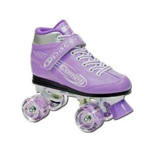 Pacer Comet Purple Boots with Light Up Wheels Girls Ladies
