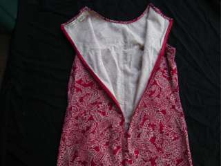 New Eddie Bauer Red/White Sleeveless Summer Dress Sz M