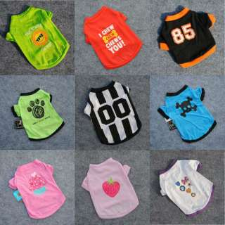 Pet Small Dog Clothing Puppy Clothes Various T Shirts