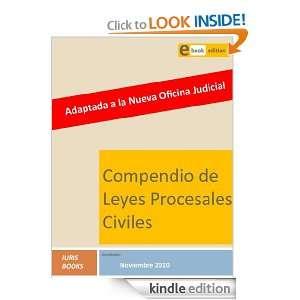 Compendio de Leyes Procesales Civiles (Spanish Edition) Iuris Books