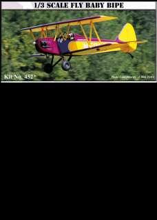 VINTAGE FLY BABY RC RADIO CONTROL BI PLANE AIRPLANE BALSA USA MODEL
