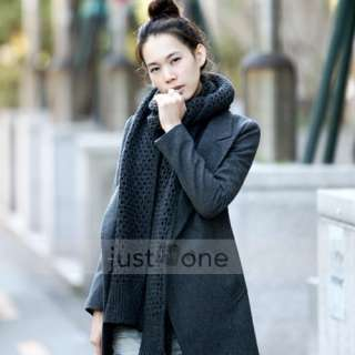 Chic Women Lady Lapel Double breasted Slim Fit Suit Blazer Coat Jacket