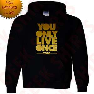 Live Once Drake Hooded Sweat shirt OVOxo YOLO Take care Hoodie YL 5X 3