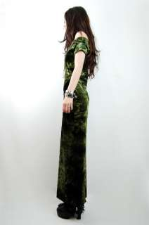 Vtg 90s Emerald TIE DYE Psychedelic Grunge VELVET Bandage Maxi Dress S