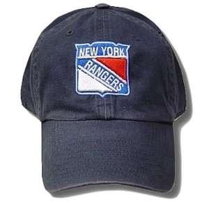 NHL GARMENT WASH ADJ HAT CAP NEW YORK RANGERS BLUE NEW