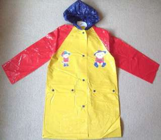 BN KIDS GIRLS BOYS RAIN COAT PVC RAINCOAT CHILDRENS PLASTIC MAC COAT