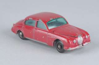 Vintage 1960s Lesney Matchbox Jaguar 3.4 Litre No. 65   Red |