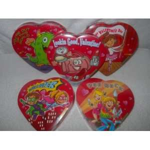 FIVE BOXES OF VALENTINE ELMER CHOCOLATE (10 OUNCES OF CHOCOLATE CANDY)
