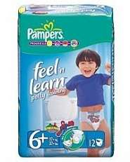 Pampers Easy Up Pull Ups Feel N Learn Potty Training For Boys & Girls