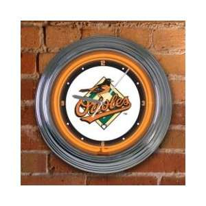 BALTIMORE ORIOLES Team Logo 15 NEON WALL CLOCK  Sports
