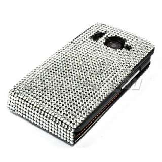 BLING RHINESTONE LEATHER CASE FOR HTC DESIRE HD /66