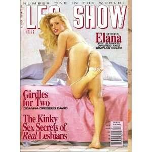 Leg Show Magazine July 1993 Covrgirl Elana: Books