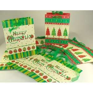 Of 48 Medium Christmas Tree And Ornament Gift Bags