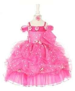 Little Girls Pageant Dress   Princess Star Glitter Dress with Headband