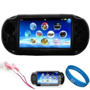 Black Premium Protective Silicone Skin Cover for New Sony PSP