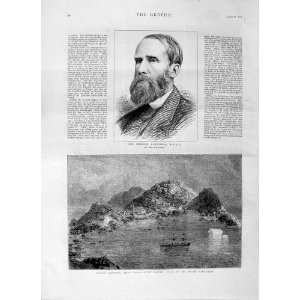 1875 GEORGE CAMPBELL LIEVELY HARBOUR DISCO ISLAND SHIP