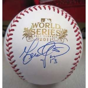 Gerald Laird Signed Baseball   Official World Series M l W