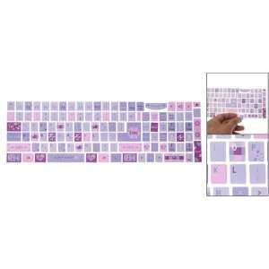 Gino Keyboard Colorful Flower Resin Stickers for Laptop PC