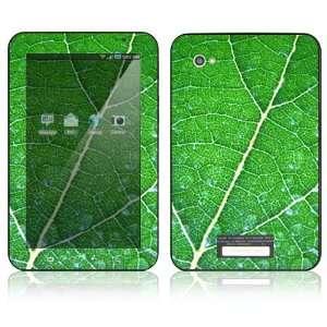 Samsung Galaxy Tab 7 Decal Skin   Green Leaf Texture