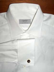 ERMENEGILDO ZEGNA GRITTI WHITE DRESS SHIRT 15.5 34/35