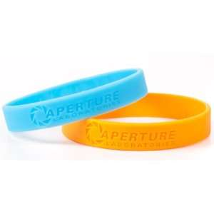 JINX Portal 2 Rubber Bracelet WRISTBAND Set of 2