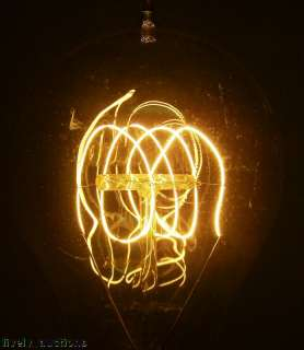 Circa 1920 Edison Light Bulb Reproduction 4 Loop Filament 60 Watt 240