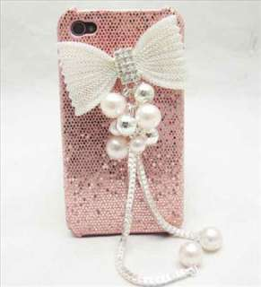 Bling pink CASE butterfly Case Cover for Iphone 4 4S AU