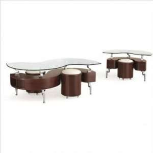 Occassionals Mahogany Coffee & End Table Set with Glass