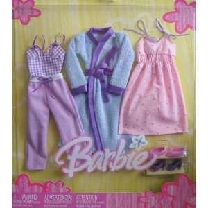 Barbie 3 Fashions Fabulous Looks SLEEPWEAR Outfits w