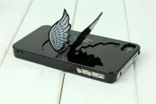 Cute Lovely Angel Wing Hard Case Cover Skin For iPhone 4 4S With Stand