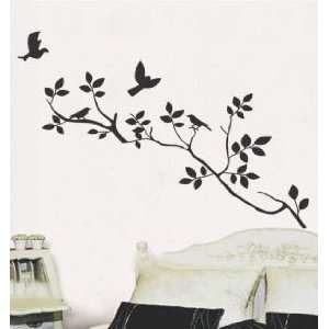 Modern House Spring Birds on the Tree Branch removable