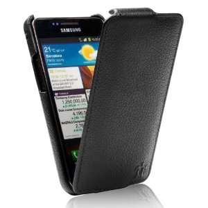 Ultra Slim Collection Leather Flip case Grained Black Electronics