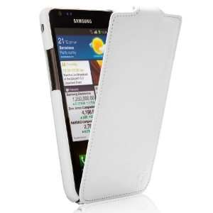 Tradition Ultra Slim Leather Flip Case Grained White Electronics