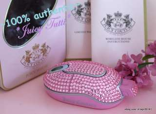 SALE♥ Juicy Couture Pink Rhinestone Crystal USB Wirelss Labtop Mouse