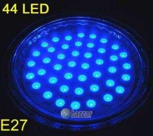 E27 Blue 44 LED Light Bulb Wide Angle Lamp 110/220v 3W