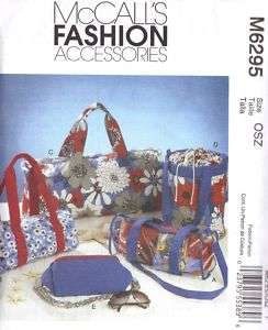 McCalls Pattern 6295 Three Duffel Bags Tote Fanny Pack