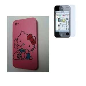 Hot Pink Kitty Designer [2] Snap Slim Hard Protector Case Back Cover+
